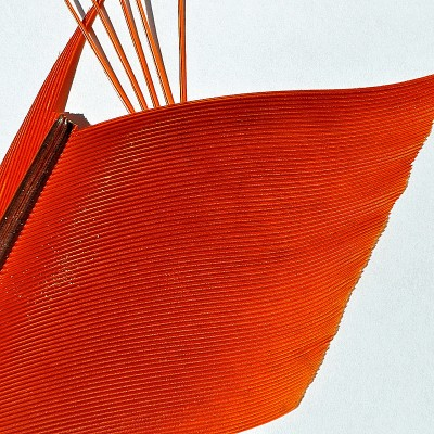 Peacock Segmented Quill - orange