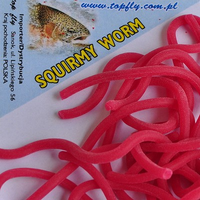Squirmy wormies - dk. red